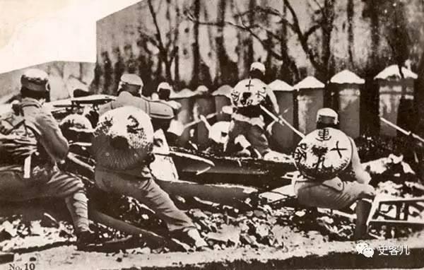 老照片�O日本明信片上的抗战国军