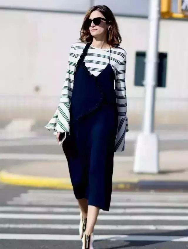 【搭配】秋天穿这样穿连衣裙,不要太美了! 4