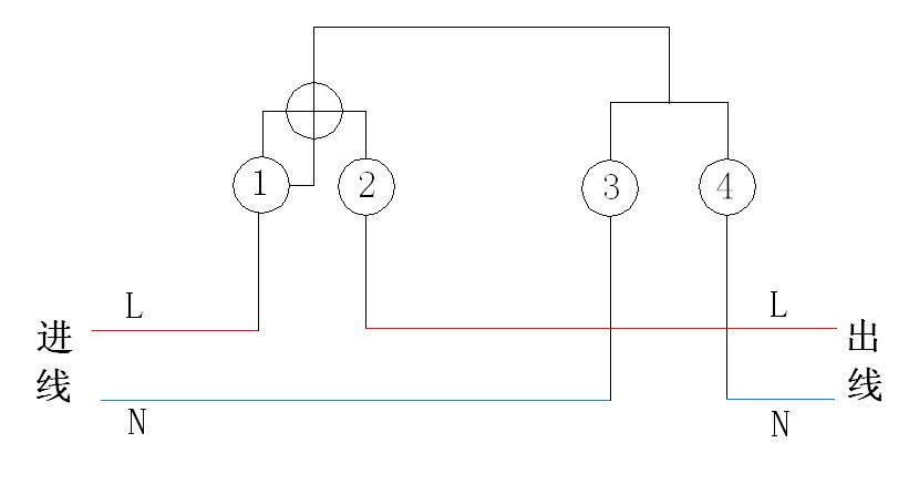接线示意图如图2所示: 三相四线有功电表的直接接线式:三相四线有功电