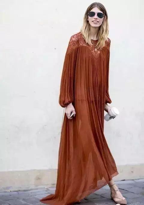 【搭配】秋天穿这样穿连衣裙,不要太美了! 3
