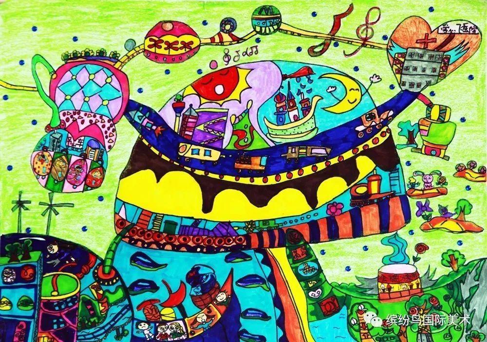缤纷鸟第六届全国少儿美术大赛绘画类少儿a组特等奖获奖作品欣赏(下)图片