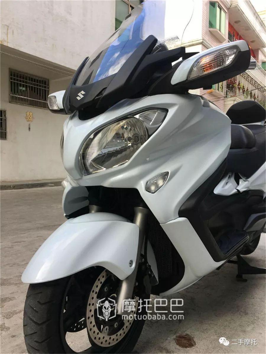 二手摩托 铃木 天浪650 双缸水冷踏板车-摩托巴巴