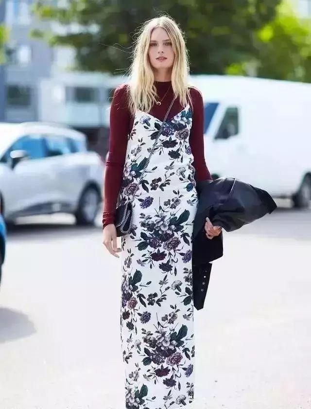 【搭配】秋天穿这样穿连衣裙,不要太美了! 1