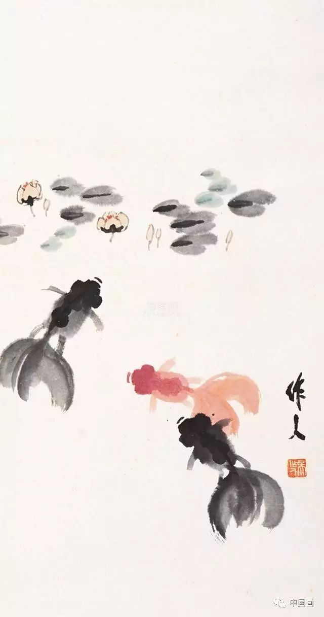 国画金鱼的基本画法及其珍贵手稿