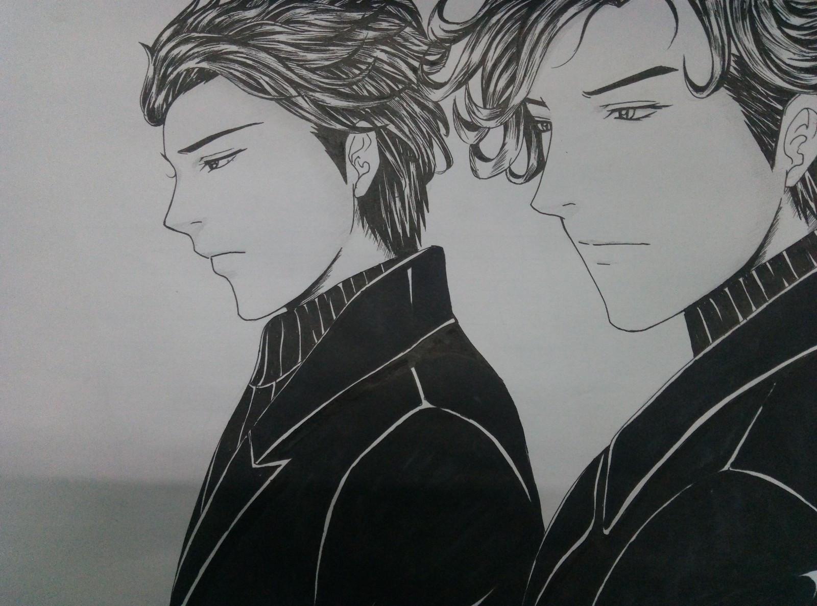 好帅气的黑白手绘!_搜狐动漫_搜狐网