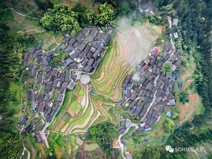 航拍地图高清村庄实景