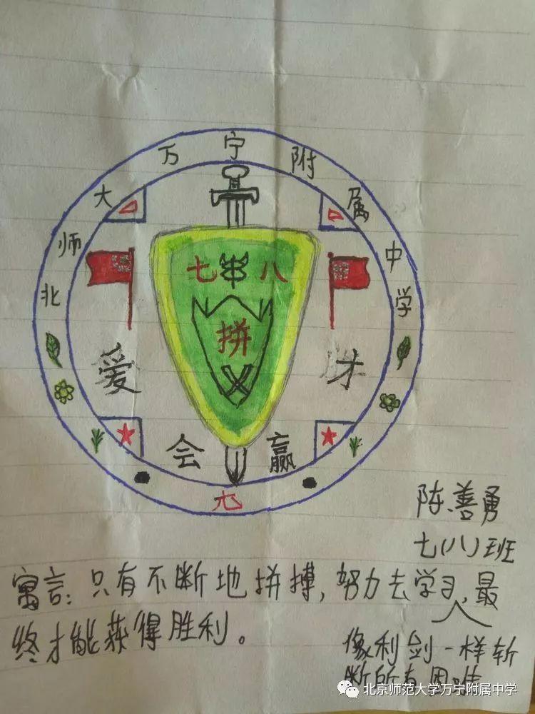 七年级八班班徽设计大赛