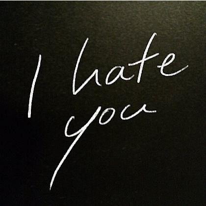 我讨厌你啊
