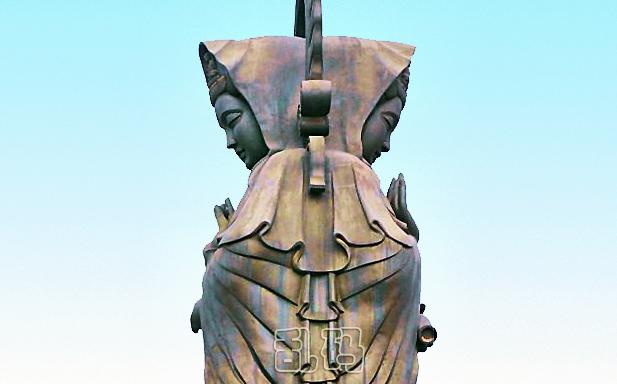 """湖北香火最旺寺庙供奉80吨青铜双面观音 被誉""""天下祈福最灵寺""""!"""