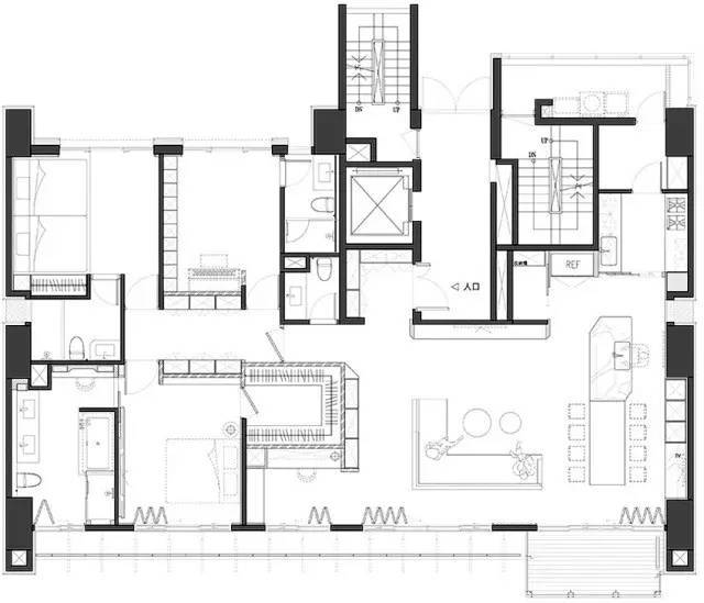 艾森曼二号住宅平面图