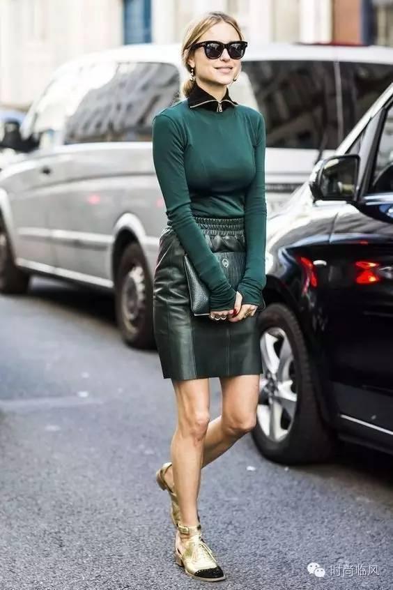 2017秋冬 最时髦的皮裙这样穿