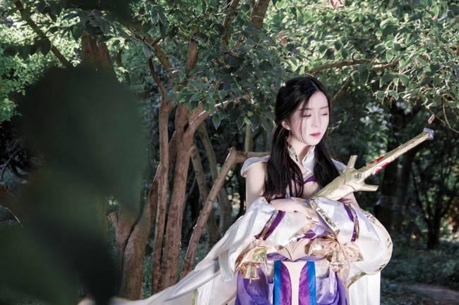 王者荣耀露娜紫霞仙子皮肤cosplay,我的意中人在哪里