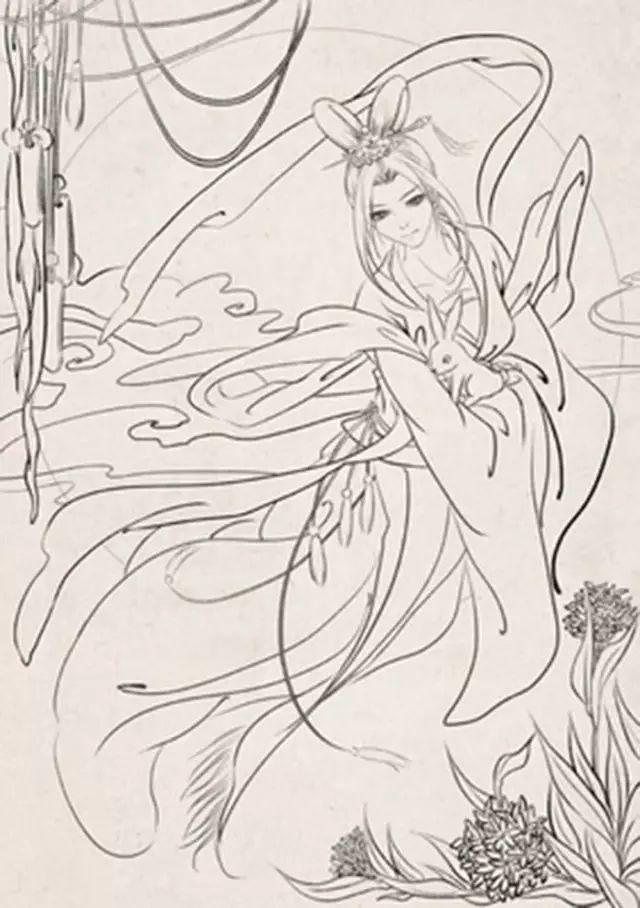 古代皇后简笔画