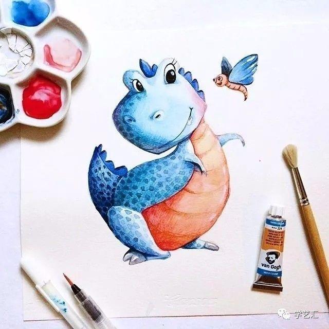 水彩| 萌翻你的手绘小动物插画,让人欲罢不能!