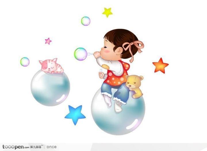 我的课余生活——吹泡泡