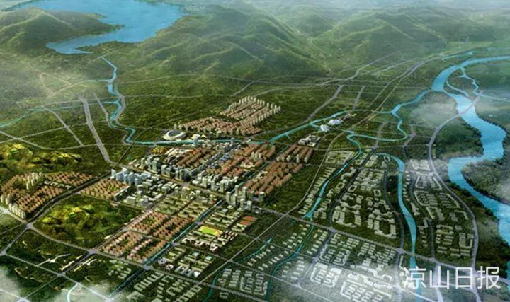 图/西部新城规划图
