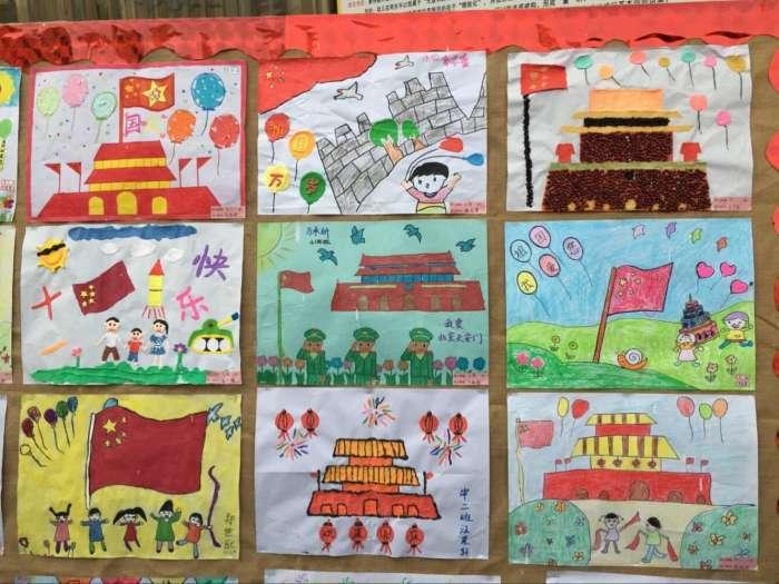 """儿童一笔画图范列_""""喜迎国庆,童心绘中华"""",一百多幅幼儿园宝宝们的作品,超赞!"""