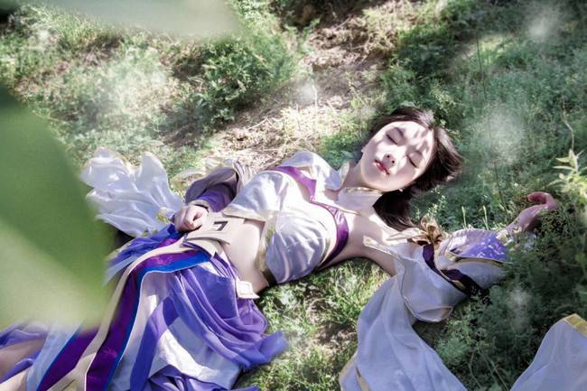 王者榮耀露娜紫霞仙子皮膚cosplay,我的意中人在哪里圖片