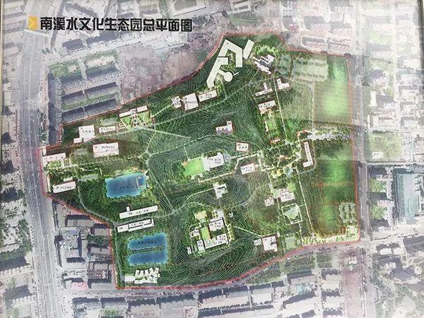南溪水文化生态园总平面图图片
