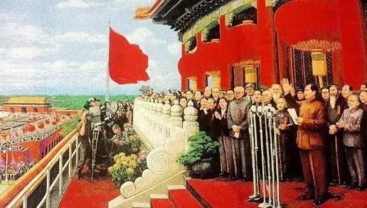 在政协第一届会议上所致的开幕词中就 已经宣告了新中国的诞生.