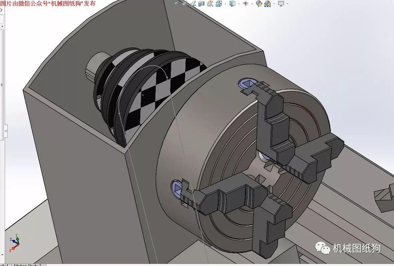 【工程机械】车床练习模型3d图纸 solidworks设计