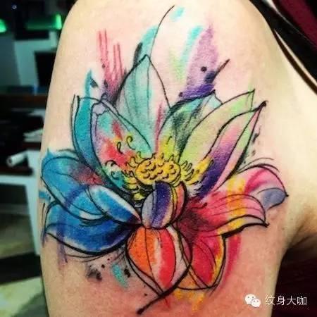 √美轮美奂的水彩纹身手稿