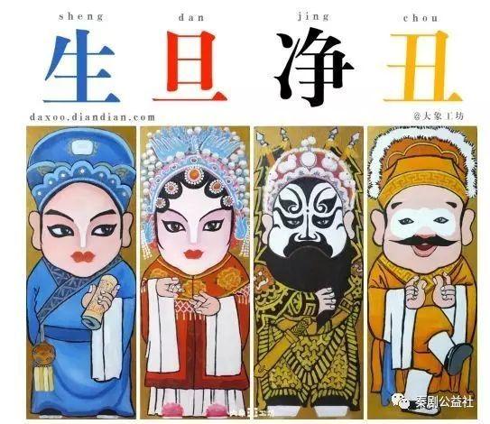 卡通关羽京剧手绘黑白