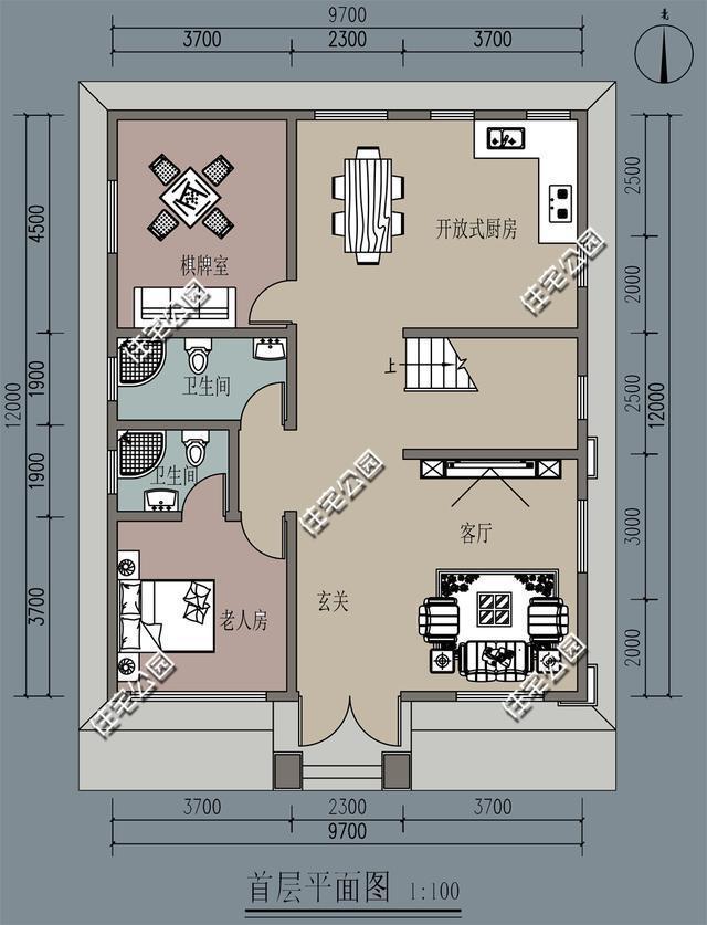 新农村别墅10米x12米,有建筑师就是不一样,含平面图