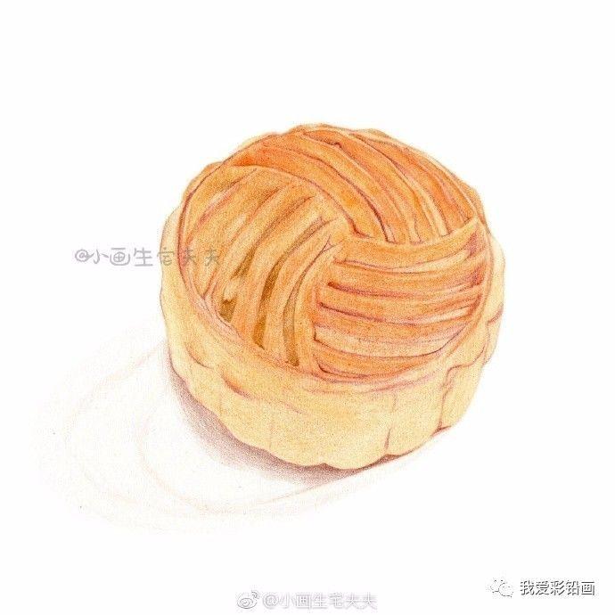 国庆/中秋节献礼~彩铅月饼小教程!