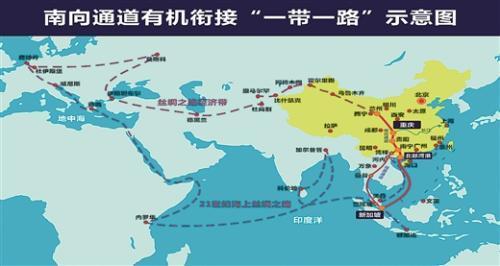 """这条新""""灵渠""""的""""北渠""""连接中亚邻国,为欧亚内陆找到新的出海方向.图片"""
