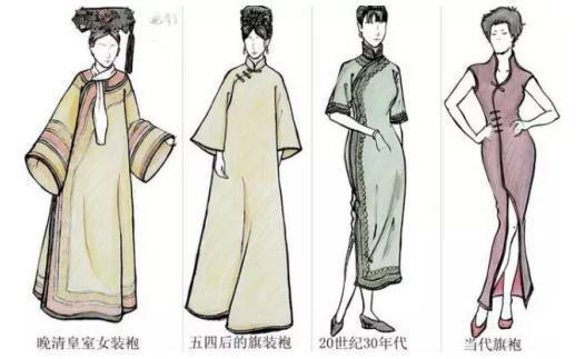 富贵花,梅花等,还有以中国水墨画手法描绘的花卉图案设计的手绘旗袍.图片