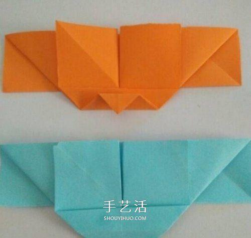 心心相印的折法步骤图 手工折纸心心相印图解