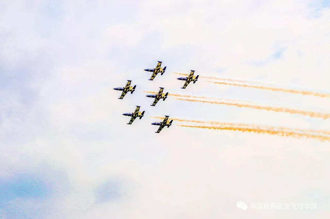 机编队 本次航展,参加表演和展示的飞机有两种方式来到中飞院广汉机场