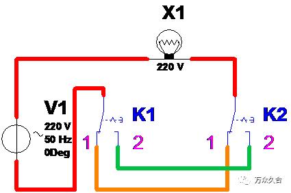 一灯双控接线图 三个条件: 1,开关:电力电子器件工作在开关状态而不