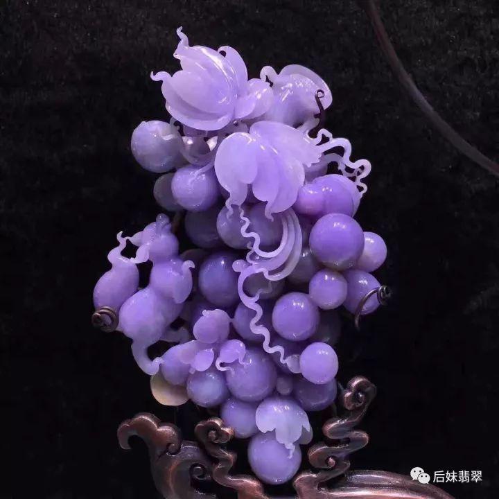 她的紫葡萄�_1800万的翡翠紫葡萄,你下得了嘴吗?