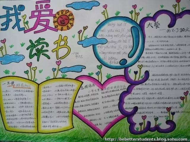 小学生优秀读书手抄报大全