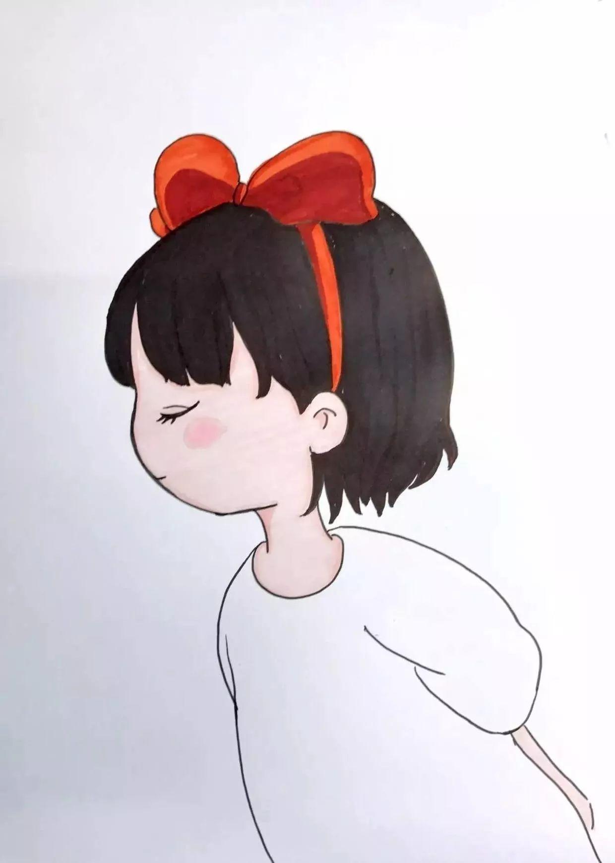 马克笔教程   宫崎骏王国——《魔女宅急便》琪琪(超详细零基础马克笔