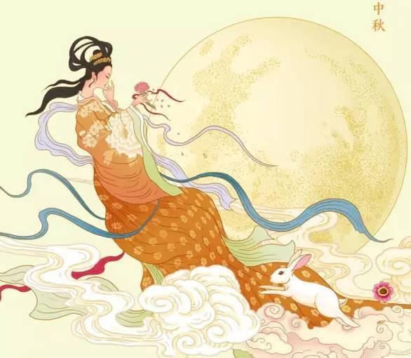 嫦娥奔月-美图 花好月圆 中秋快乐