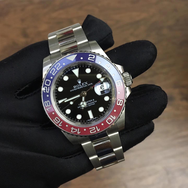格林尼治Ⅱ白金腕表 ROLEX劳力士116719BLRO 红蓝圈手表 常州哪里高价回收劳力士