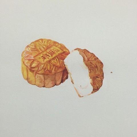 中秋佳节——手绘月饼