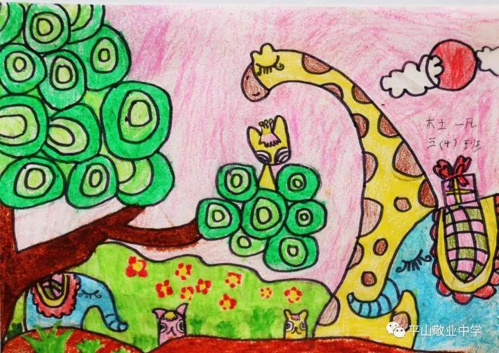 童手绘丹青 祖国在我心图片