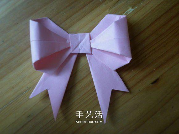 简单易学的折纸蝴蝶结 正方形纸折蝴蝶结折法