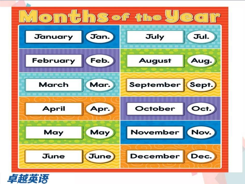 一年12个月份,一周有七天,一起用英文数一遍!【单词达人计划第17期】