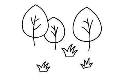 草地上的花朵简笔画 简笔画