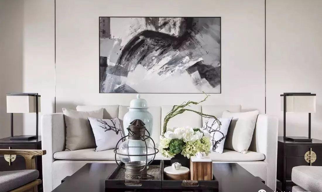 【风格推荐】新中式-135㎡,三室以黑白灰为主色调,营造淡雅素净的居家