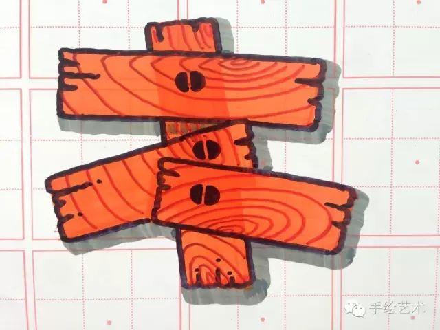 娱乐 正文  木纹字体:中柏20mm马克笔,法卡勒水性马克笔,大双头记号笔