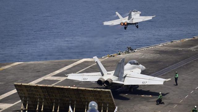 黑科技!美航母一弹射器完成舰载机10,0000次起飞
