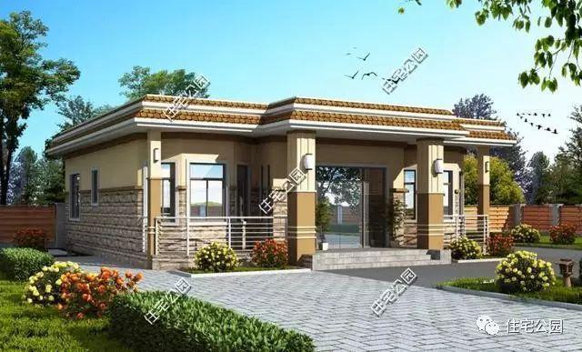 农村自建房岂能没有平层设计,4套25万盖好的平层别墅