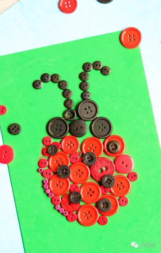 蜗牛扣子手工制作图片