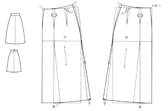 半身裙基本纸样图片